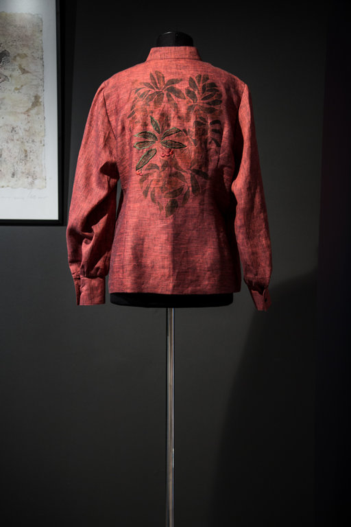Women's blouse with a drawing of a rowan