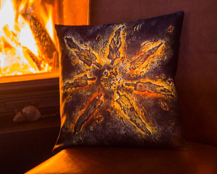 "Pillow ""With the sun. Tuscany"""
