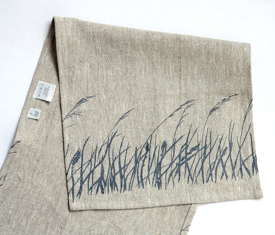 Towel with a grass pattern