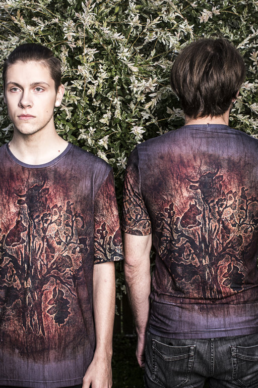 Men's t-shirt with imprints