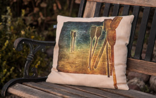 "Decorative Pillow ""Border Measure""."