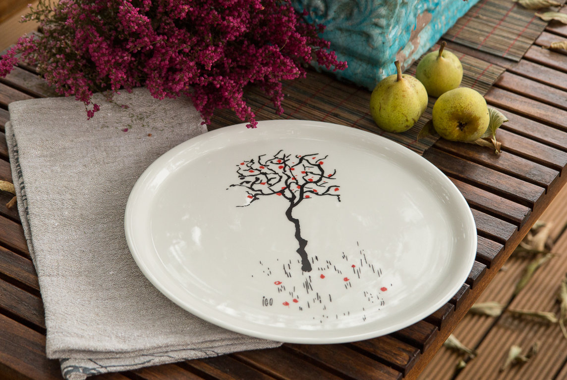 "Plate ""Apple Tree with Apples"""