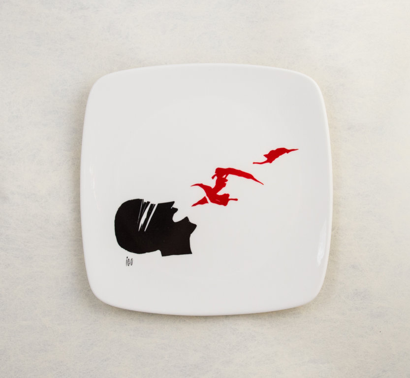 """Porcelāna šķīvis """"Pēcgarša"""""""