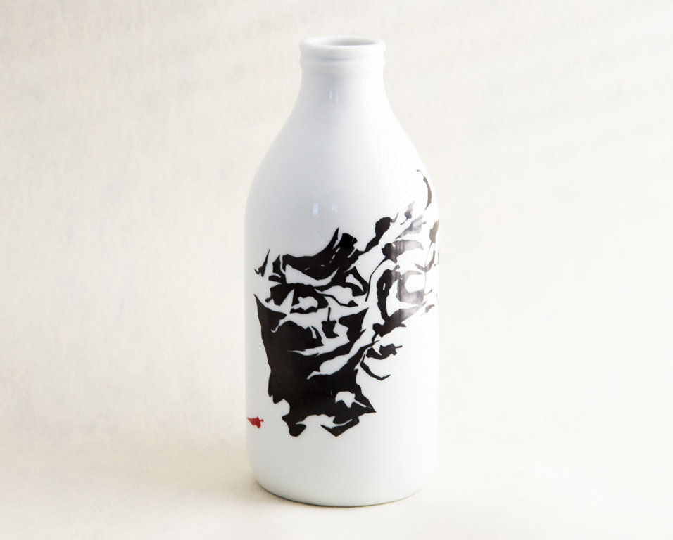 """Porcelāna pudele/ vāzīte no trauku sērijas """"Pipari"""""""