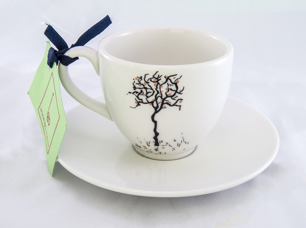 "Cup and saucer ""Apple Tree with Apples"""
